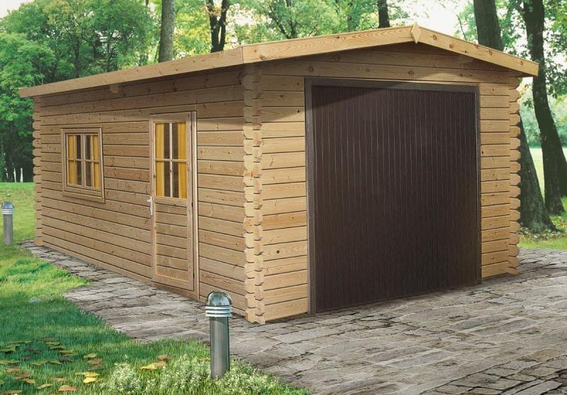 Log cabin garage 4x6 m log cabins sheds garages in london for Garage cabins